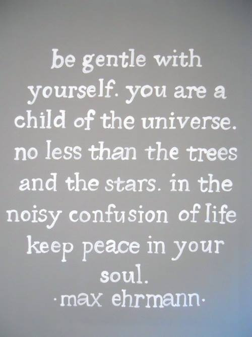 Gentle Yoga Quotes be Gentle With Yourself Quote